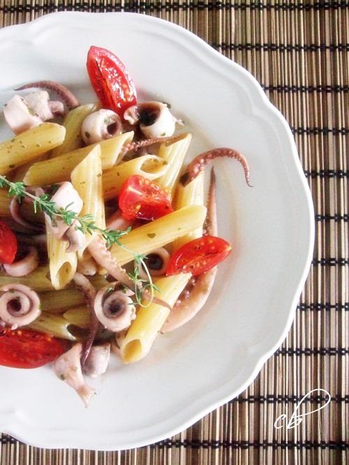 Penne di Kamut con polpo in insalata