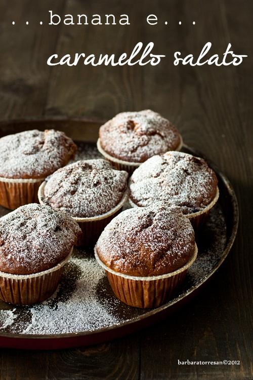 muffin alla banana e caramello salato