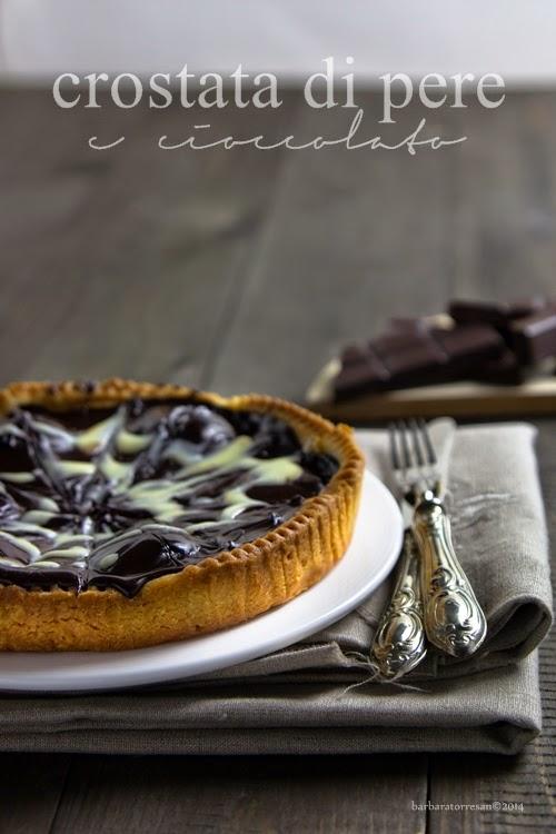 crostata di pere (zenzero) e cioccolato