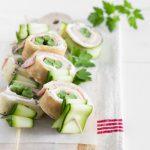 Spiedini di crepes e verdura