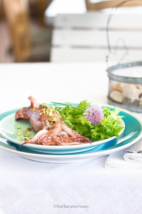 Calamari ripieni (pistacchi e ricotta)