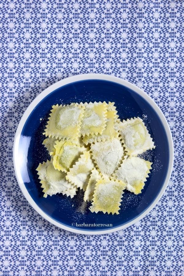 I ravioli di borragine (di Fiorella) arrivano da Camogli