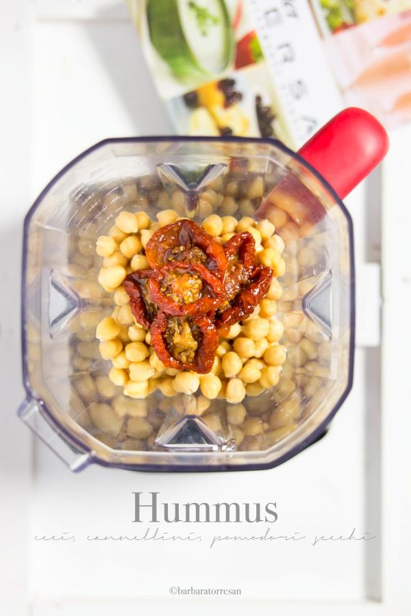 hummus ceci, cannellini, pomodori secchi