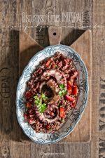 riso rosso Ermes Integrale con polpo croccante