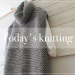 Collo alto e senza maniche. #knitting