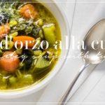Zuppa d'orzo alla curcuma – Barley soup with tumeric