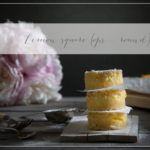 Lemon square bars (ops…. round)