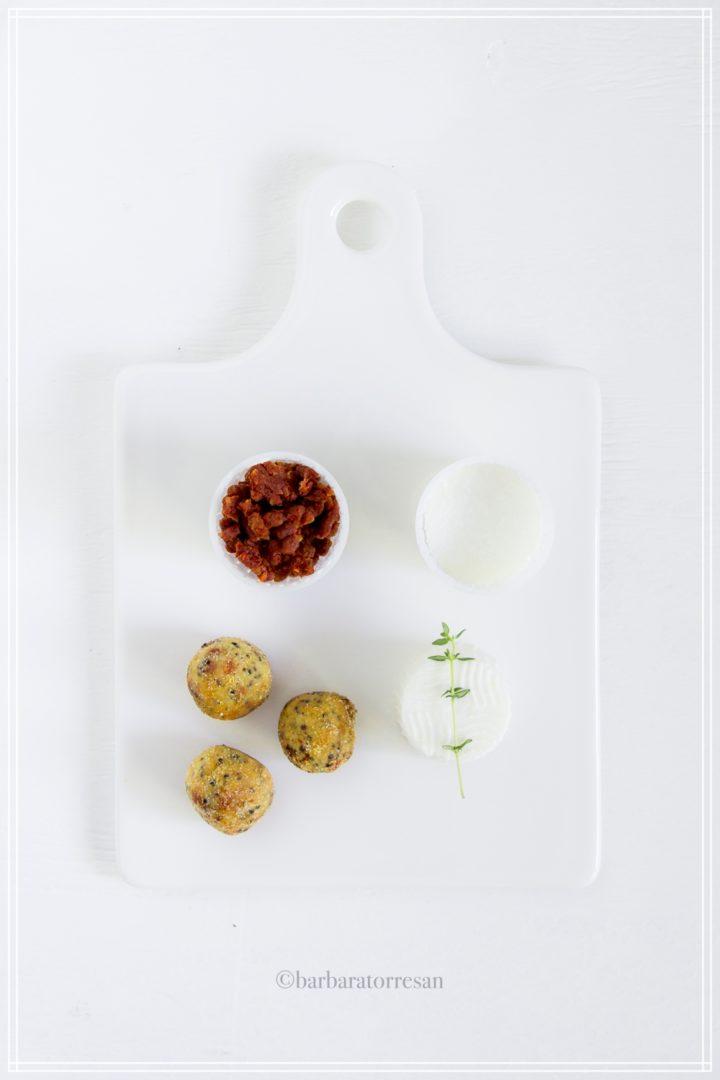 polpette di quinoa con pomodori secchi