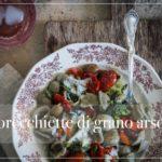 Orecchiette di grano arso, pomodori secchi e cime di rapa